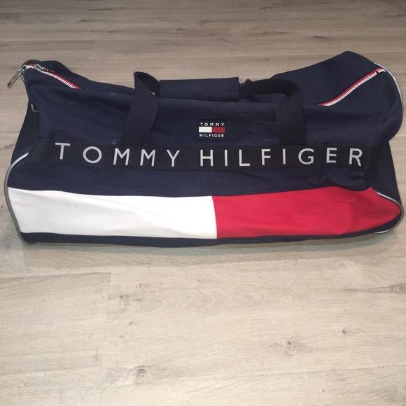 80513099db21 Vintage Tommy Hilfiger Flag Spellout Duffle Bag. M 5c451d859539f78798842581